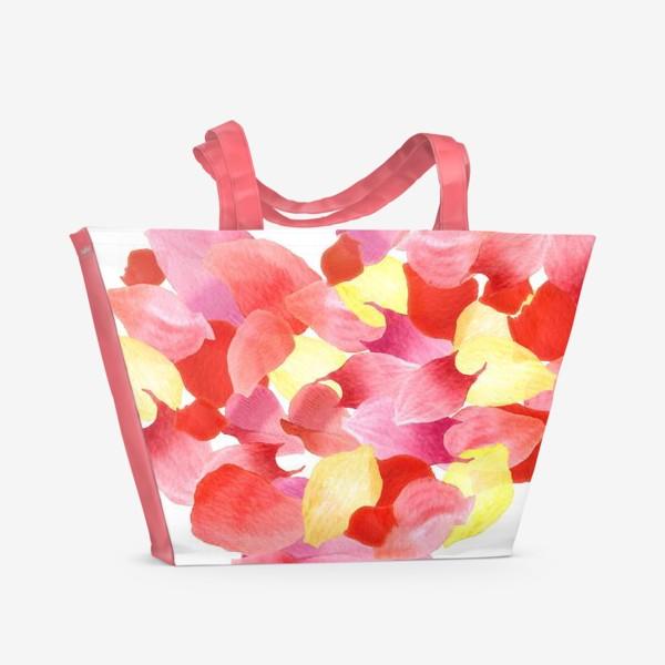 Пляжная сумка «Цветочное сердце»