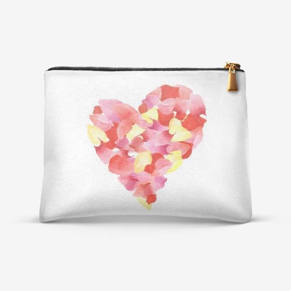 Косметичка «Цветочное сердце»