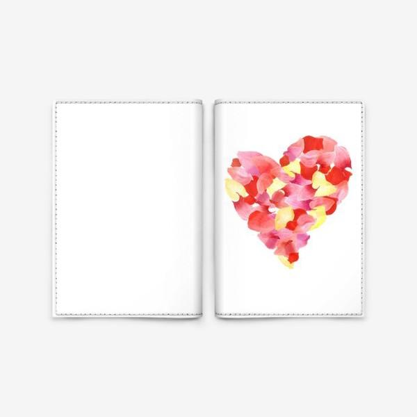 Обложка для паспорта «Цветочное сердце»