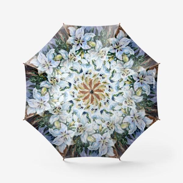 Зонт «Белые лилии»