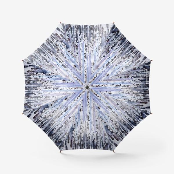 Зонт «Зимние берёзки»