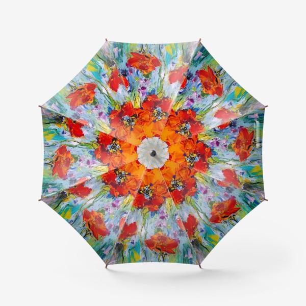 Зонт «Маки мастихином»