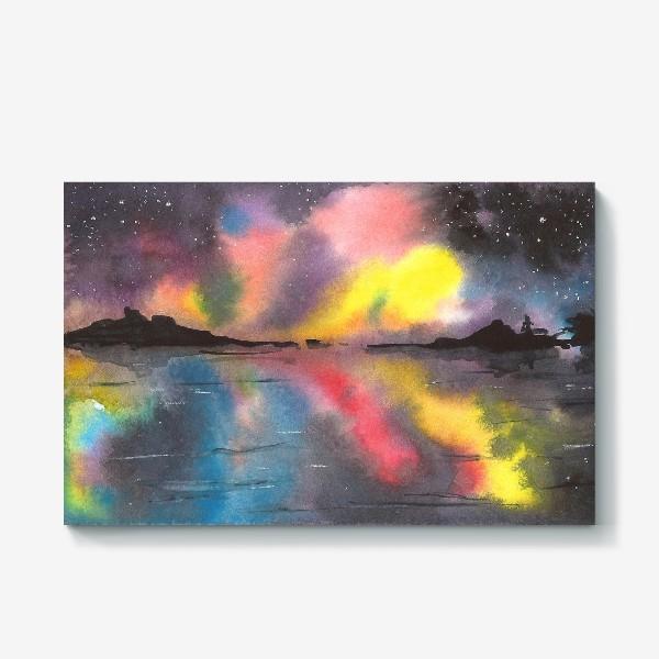 Холст «Звездное небо над водой»