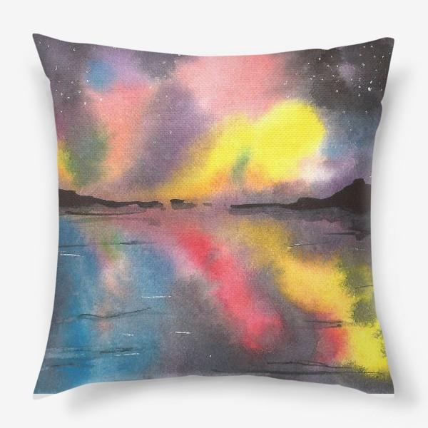 Подушка «Звездное небо над водой»