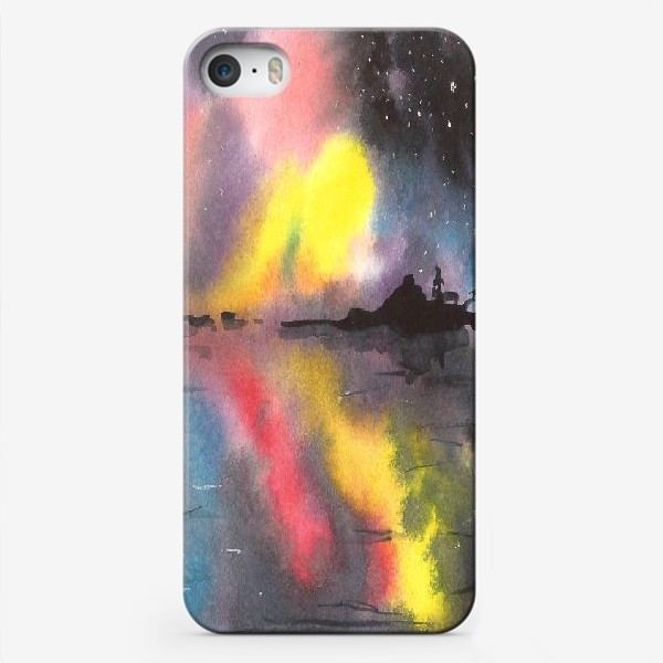 Чехол iPhone «Звездное небо над водой»