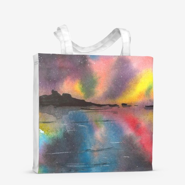 Сумка-шоппер «Звездное небо над водой»