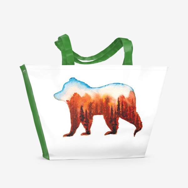 Пляжная сумка «Медведь сибирский»
