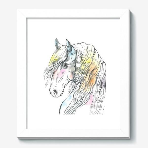 Картина «Конь фриз пастельный»