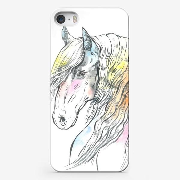 Чехол iPhone «Конь фриз пастельный»