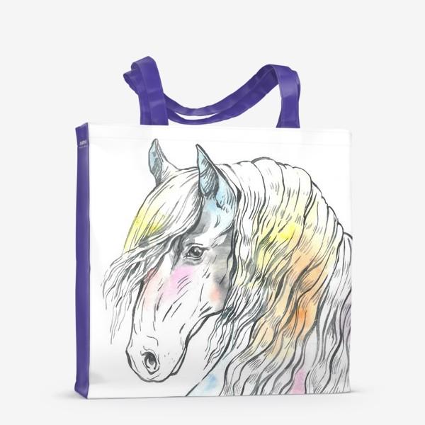 Сумка-шоппер «Конь фриз пастельный»