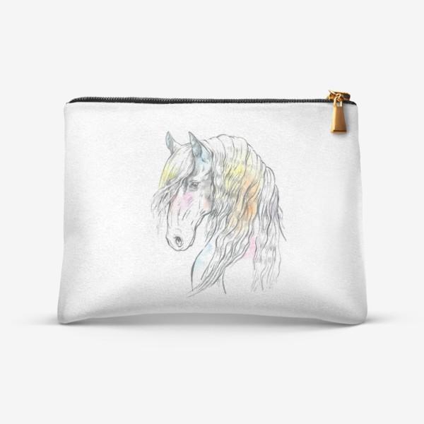 Косметичка «Конь фриз пастельный»
