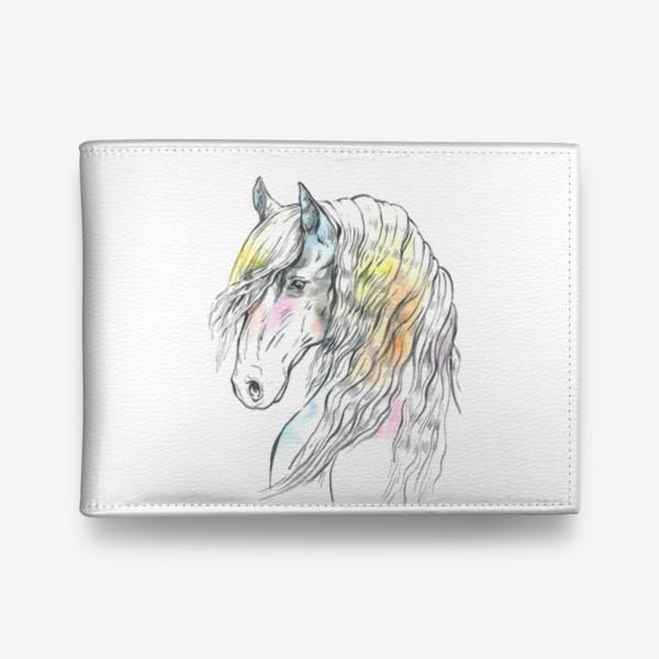 Кошелек «Конь фриз пастельный»