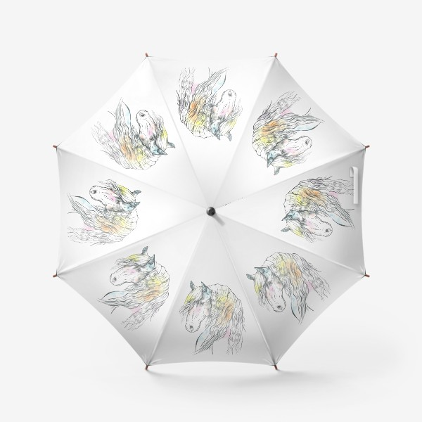 Зонт «Конь фриз пастельный»