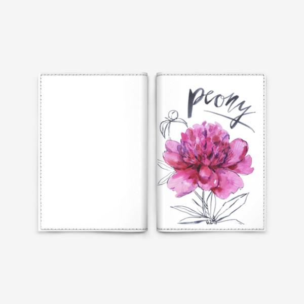 Обложка для паспорта «Пион»