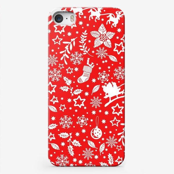 Чехол iPhone «Яркий новогодний паттерн»