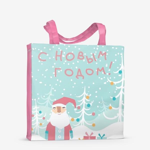 Сумка-шоппер «Открытка Деда Мороза»