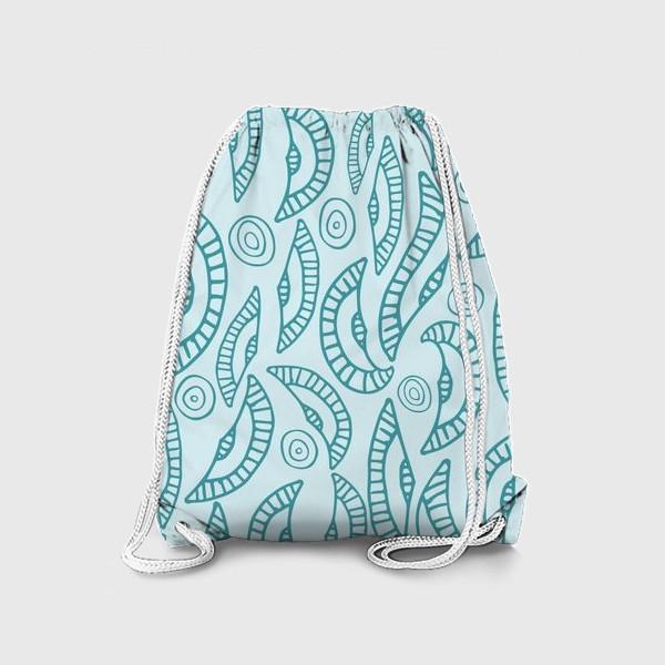 Рюкзак «Волны, абстракция»