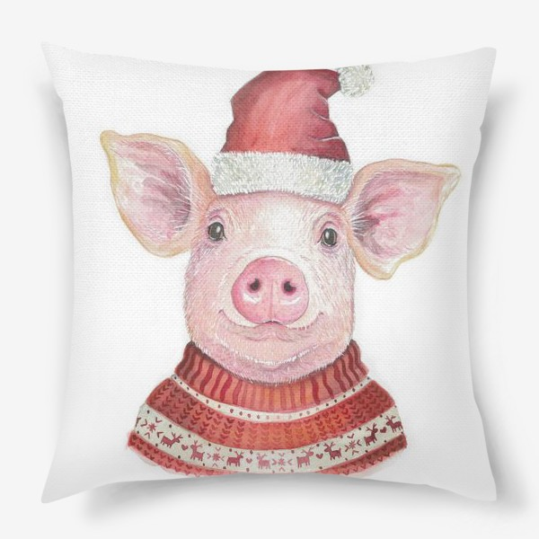 Подушка «Новогодняя Свинка»