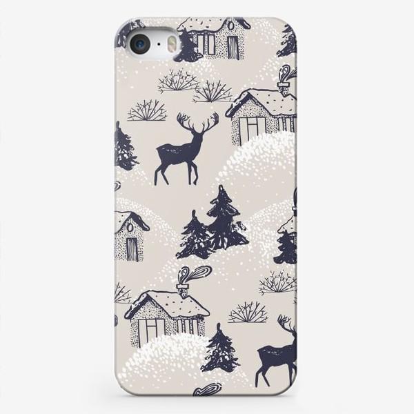 Чехол iPhone «Заснеженная деревушка »
