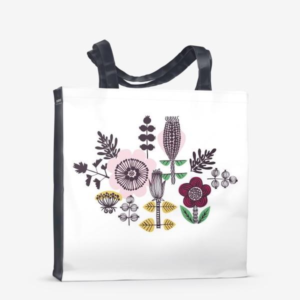 Сумка-шоппер «Цветы в скандинавском стиле»