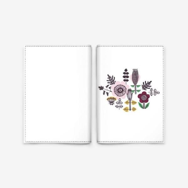Обложка для паспорта «Цветы в скандинавском стиле»