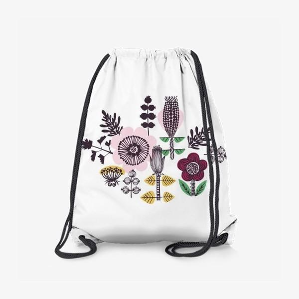 Рюкзак «Цветы в скандинавском стиле»