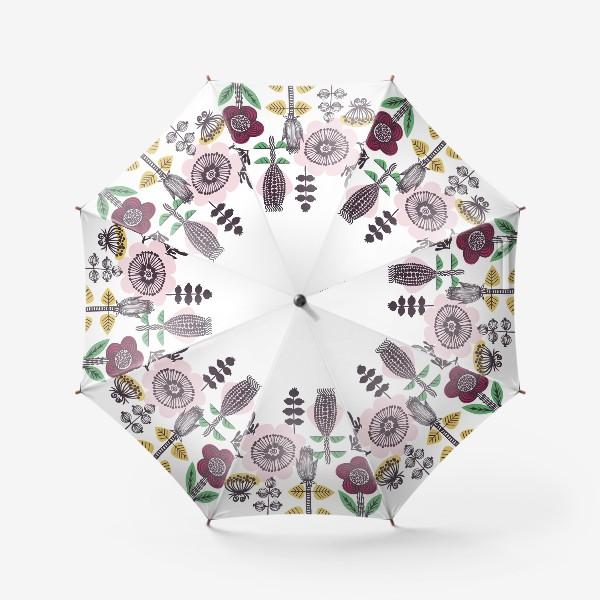 Зонт «Цветы в скандинавском стиле»