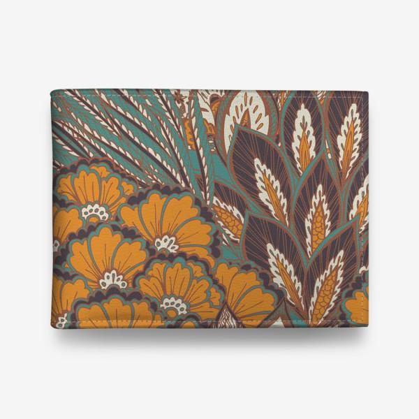 Кошелек «Восточный растительный орнамент в осенней палитре»