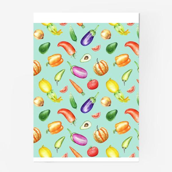 Постер «Овощная грядка 2»
