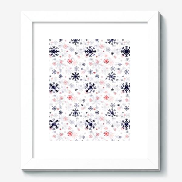 Картина «Цветные снежинки»