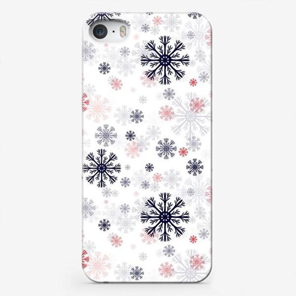 Чехол iPhone «Цветные снежинки»