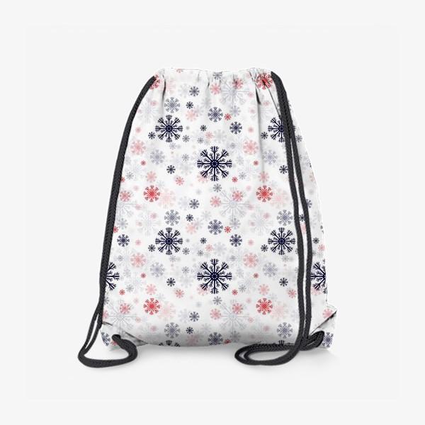 Рюкзак «Цветные снежинки»
