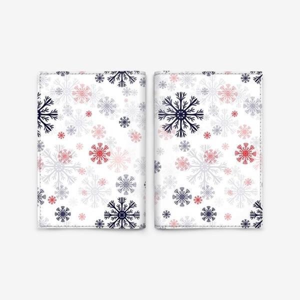 Обложка для паспорта «Цветные снежинки»
