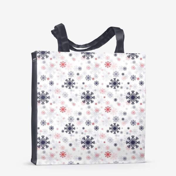 Сумка-шоппер «Цветные снежинки»