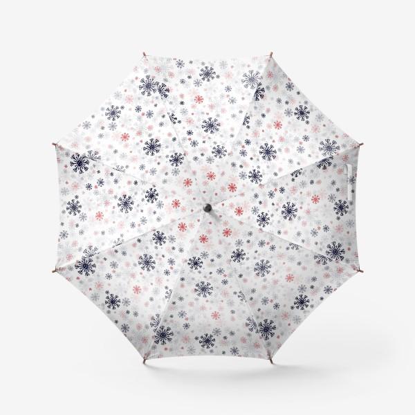 Зонт «Цветные снежинки»