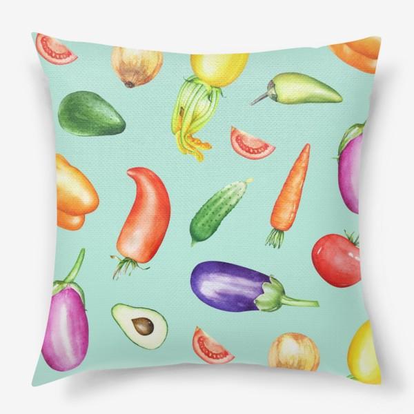 Подушка «Овощная грядка 2»