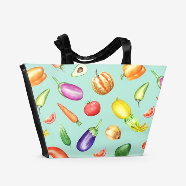 Пляжная сумка «Овощная грядка 2»