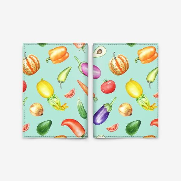 Обложка для паспорта «Овощная грядка 2»