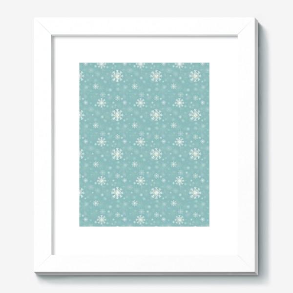 Картина «Снежинки на голубом фоне»