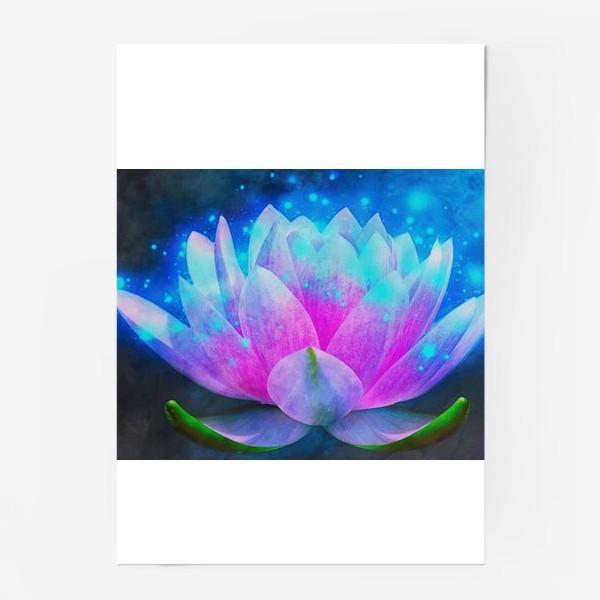 Постер «Мистический цветок лотоса»