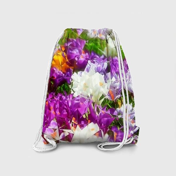 Рюкзак «Абстракция из крокусов»