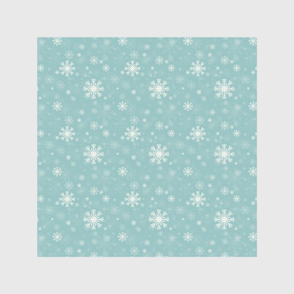 Скатерть «Снежинки на голубом фоне»