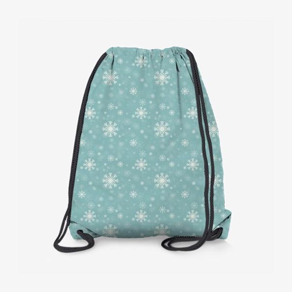 Рюкзак «Снежинки на голубом фоне»
