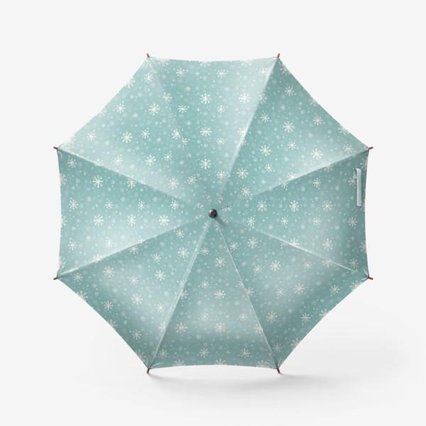 Зонт «Снежинки на голубом фоне»