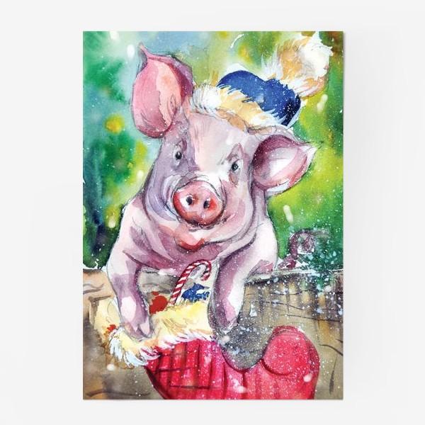 Постер «Свинка в Новый год»