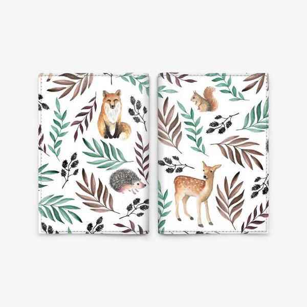 Обложка для паспорта «Акварельный лес»