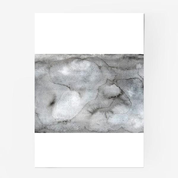 Постер «Абстрактный акварельный фон с пятнами краски.»