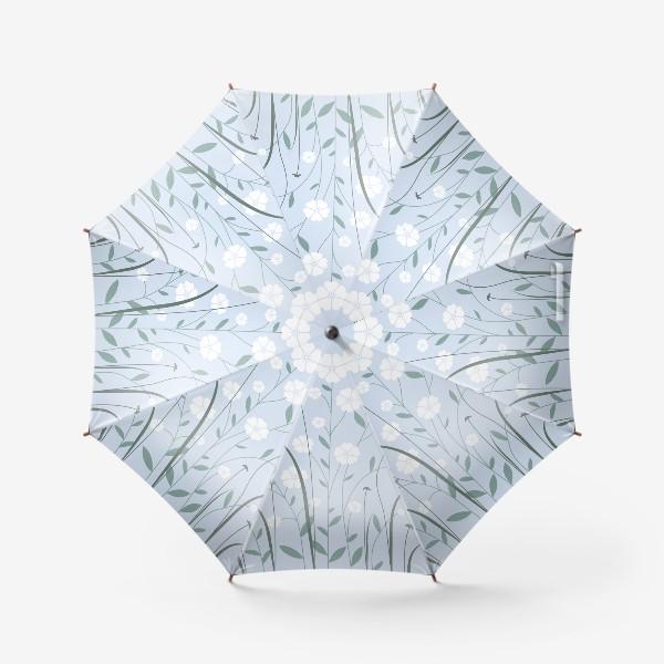 Зонт «Белые цветы»