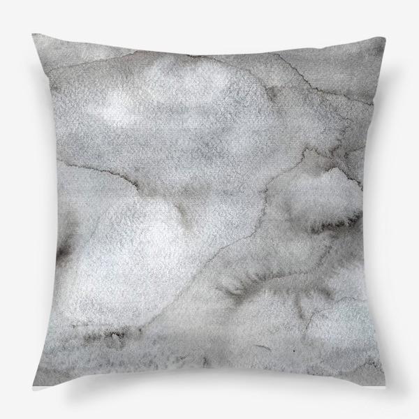 Подушка «Абстрактный акварельный фон с пятнами краски.»