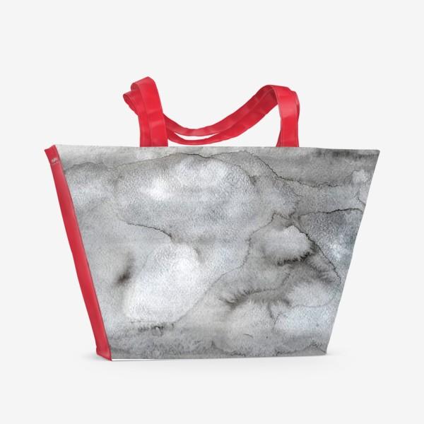 Пляжная сумка «Абстрактный акварельный фон с пятнами краски.»